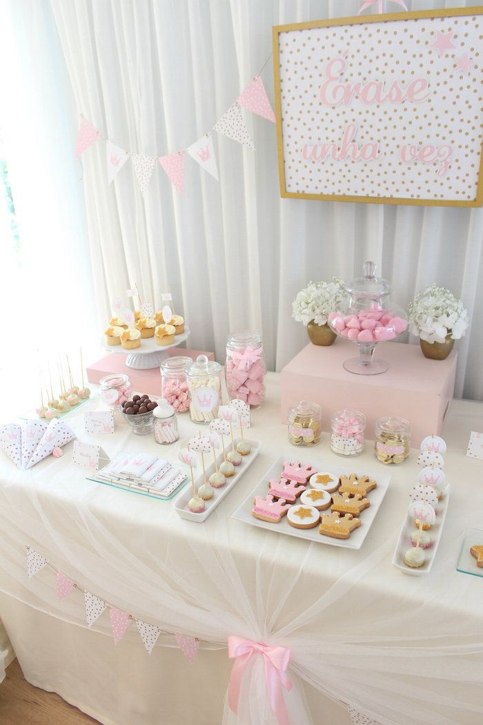 Once Upon A Time Princess Party Pink and Gold birthday party #pinkandgold #princessparty