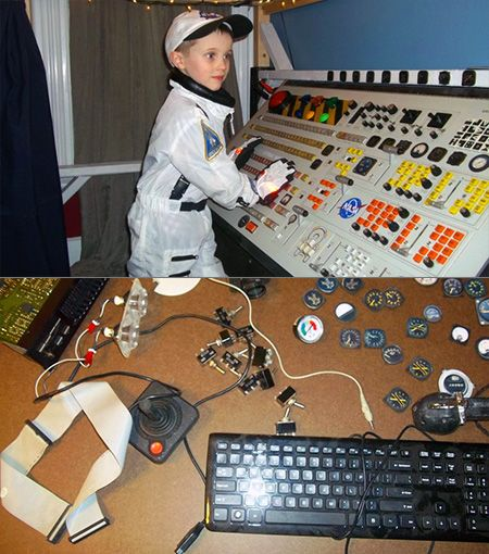 Geeky Dad Builds Coolest Spaceship Bed Ever for Son's Birthday - TechEBlog