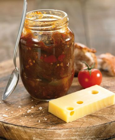 Spicy eggplant chutney--Robert likes but I need to tweak; less sugar, more spice.