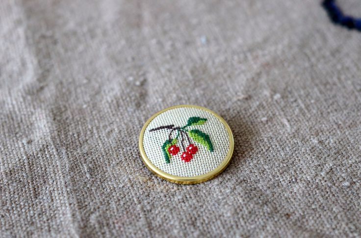 A personal favorite from my Etsy shop https://www.etsy.com/listing/222801009/cherry-brooch