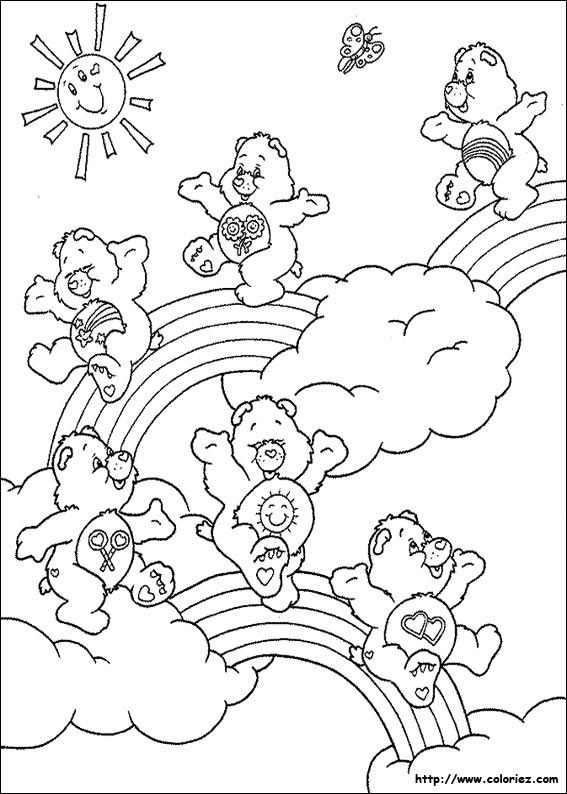 108 Best Care Bears 4 Images On Pinterest Care Bears Coloring - care bear colouring pages to print