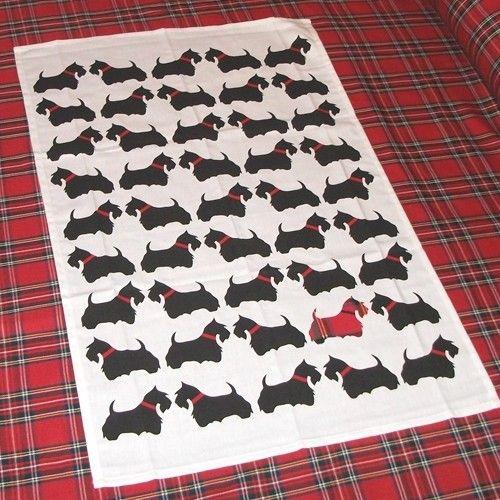 scottie dog tea towel - Google Search