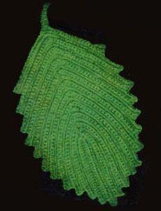 #Free Pattern; crochet; vintage pattern; Leaf Hot Plate Mat  ~~
