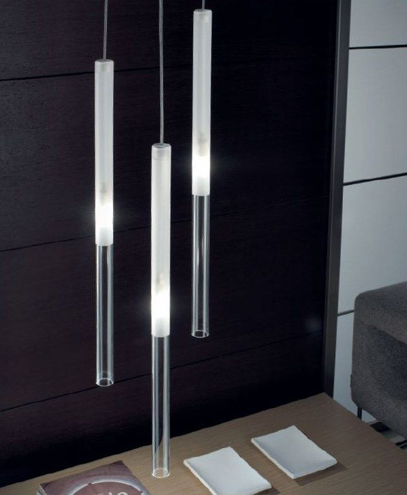 Glass pendant lamp CANDLE Candle Collection by PANZERI | design Silvia Poma