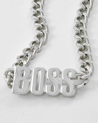 BOSS HIP HOP Curb Chain Necklace for Men or Women by Jersey Bling: Jewelry: Amazon.com