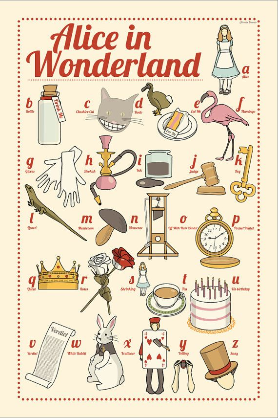 Alice in Wonderland the illustrated ABC 12x18 par ClaudiaVarosio