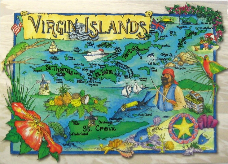 The Map Of Us Virgin Islands St Croix St John St