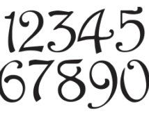 "Number STENCIL 3"" Harrington Font Numbers 0-9 for Painting Signs, Fabric, Wood, Canvas, Airbrush, Crafts, Mailboxes, House Numbers"
