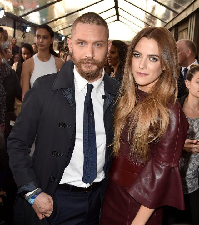 Tom Hardy and Riley Keough at event of Mad Max: Fury Road (2015)