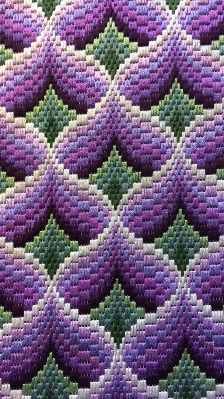 By Frances Derbyshire November 2017. Using DMC  Threads.     Bargello Florentine Stitch longstitch embroidery tapestry