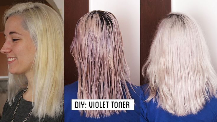 HOW TO GET WHITE HAIR / GREY HAIR , make your own violet toner at home T...