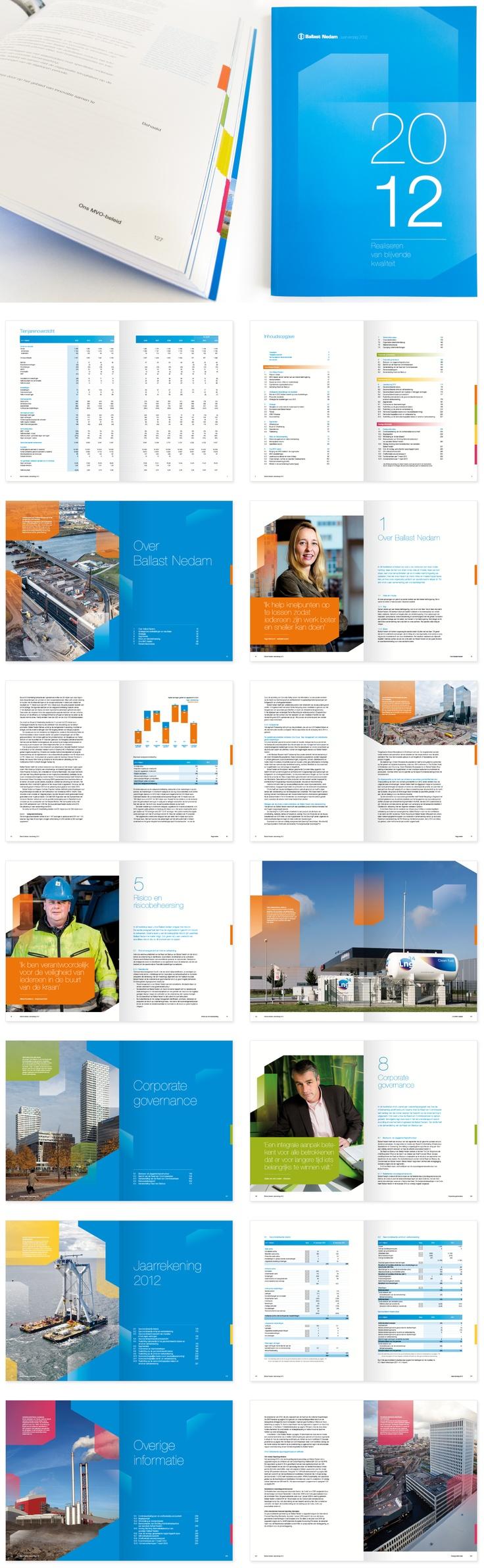 Concept | Visueel ontwerp  Ballast Nedam Jaarverslag 2012 http://www.boomvanmourik.nl/projecten/ballast_nedam_jaarverslag/