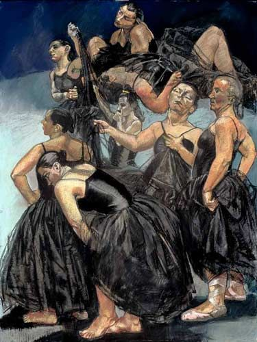 Paula Rego, Dancing Ostriches, pastel