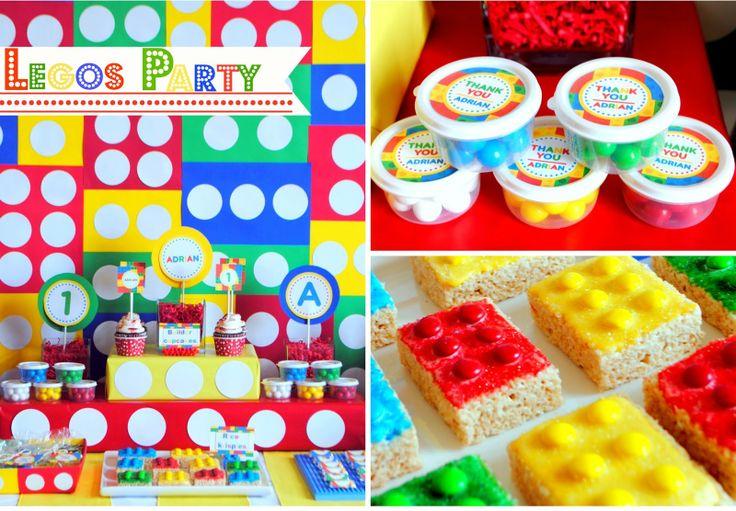 boy lego birthday card free | Legos First Birthday Party