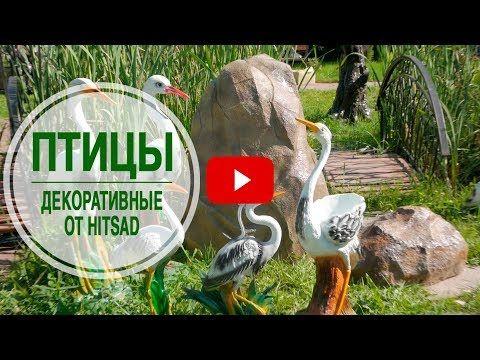 Коллекция садового декора 🌟 Птицы декоративные ➡ Садовый центр хитсад - YouTube