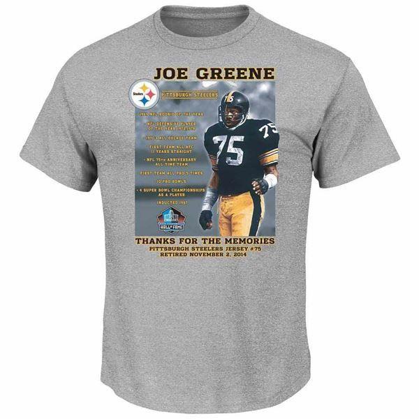 Picture of Pittsburgh Steelers Joe Greene Jersey Retirement T-Shirt