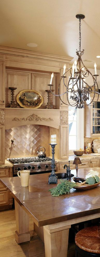 English Country Kitchen With Copper Accents Designed By Group 3 Designs