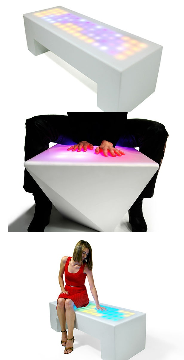 Interactive Furniture Responds to Touch