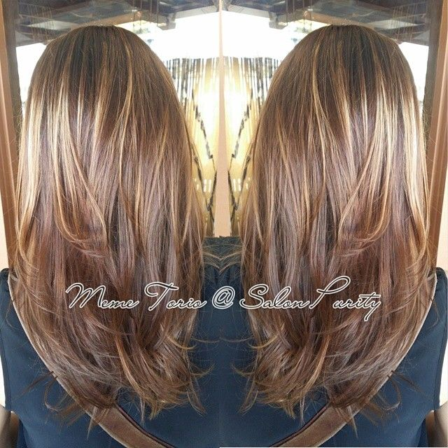 Light Brown With Golden Blonde Highlights