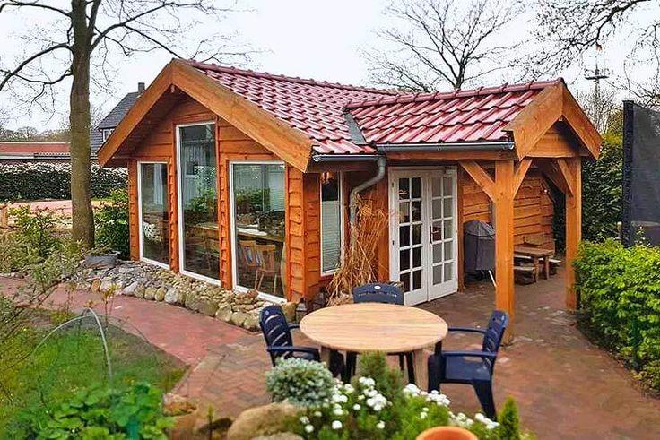 Gartenhaus im Clockhaus-Stil – mit Schlafboden und Bullauge