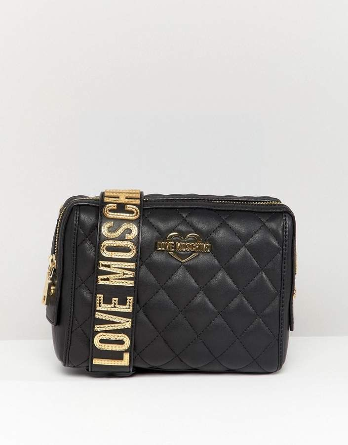 9015b792956d Love Moschino quilted shoulder bag with chunky strap | Tyyli