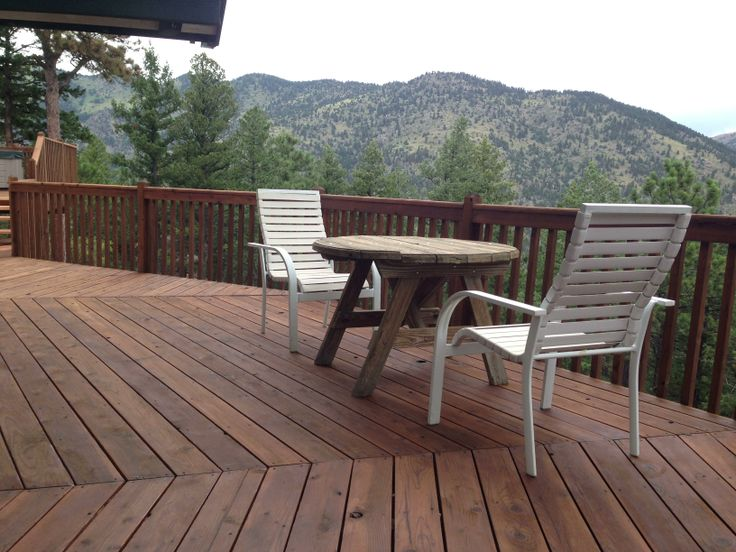 Restored Deck With Eco Friendly Boodge Decking Stain In