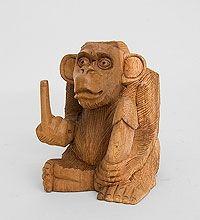 17-031 Статуэтка  ''Обезьяна'' (суар, о.Бали) А скульптура обезьяна символ года 2016 новогодние подарки сувениры фигурка обезьянка купить