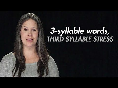 3-syllable Word Stress
