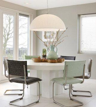 L mparas modernas para una mesa de comedor redonda - Lamparas para mesa de comedor ...