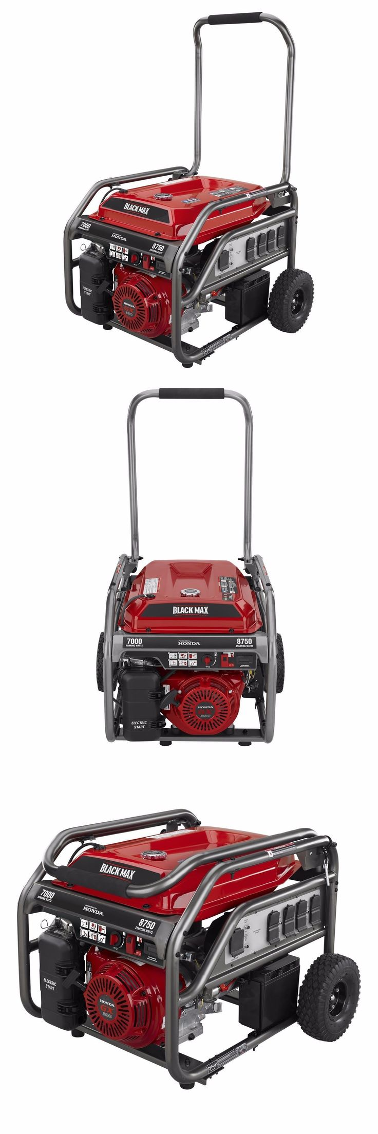 Generators and Heaters 16039: Black Max 7,000 8,750 Watt Electric Start Portable Gas Generator (Honda Engine!) -> BUY IT NOW ONLY: $950 on eBay!