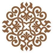 Ornamental Ceiling Decal...in metallic copper $42.95