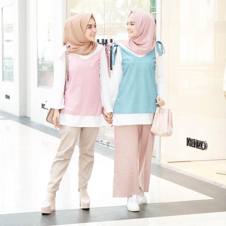 Tetep manis dan gak pucat, hijab cotton candy #ootd #hijabcandy #selebgram