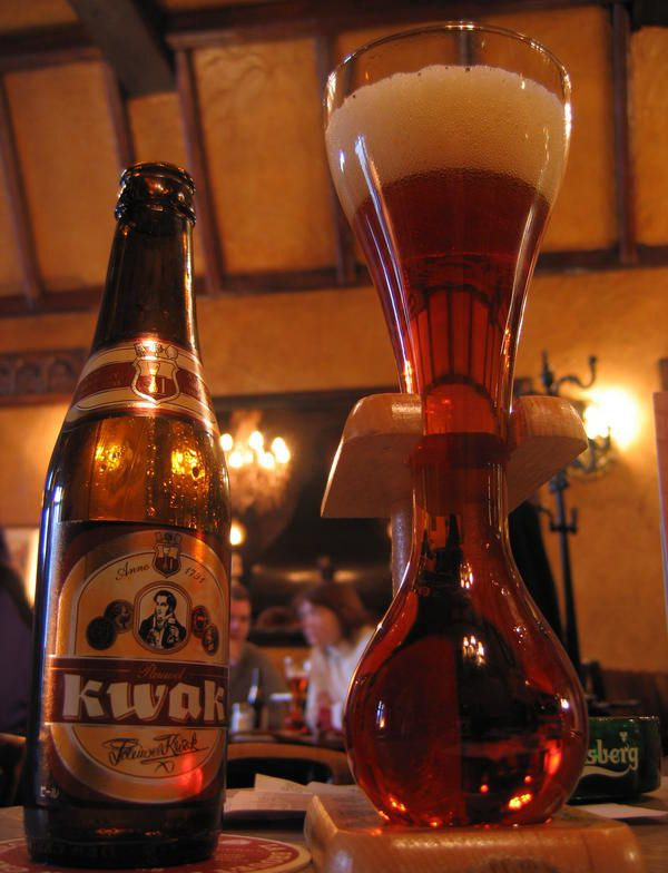 KWAK Beer.  Anything that comes with an apparatus for the glass......lol.
