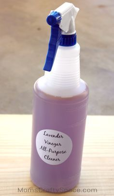 Go Green and spring clean with homemade eco friendly cleaners! Recipes for lavender and lemon all-purpose cleaners + actual before & after pics of how well they clean. Looks impressive!