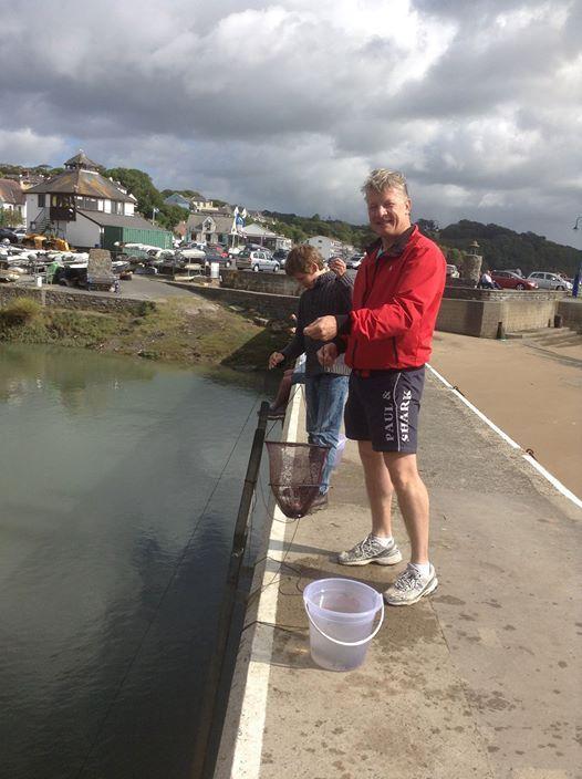 Crabbing off Saundersfoot Harbour