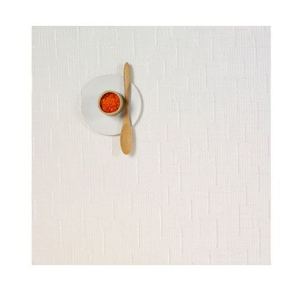 Square White Bamboo Tablemat by Chilewich