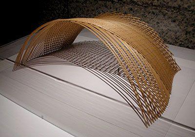 Concept model of japanese pavilion by shigeru ban for Pavilion concept architecture
