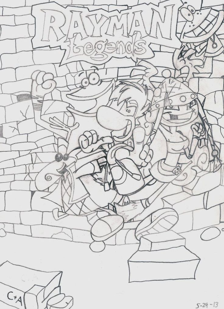 rayman legends coloring pages - rayman legends by superabachibros on deviantart rayman