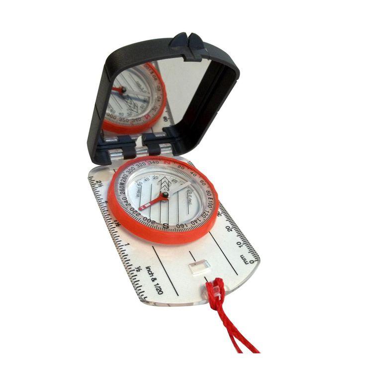 Alpine Mountain Gear Map Compass w- Mirror