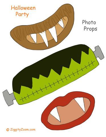 Printable Halloween party photo props  ... pdf page 2