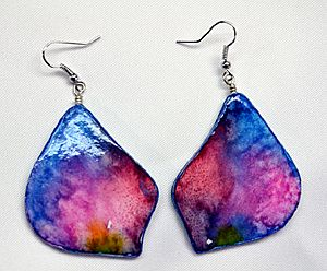 Making Watercolor Paper Earrings – Simple and Beautiful! | Jewelry and Painting | Blog by Ross Barbera