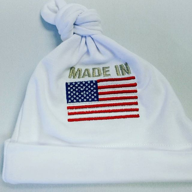 Happy 4th of July! #picocharliecole #madeinamerica #babyhat#embroidered