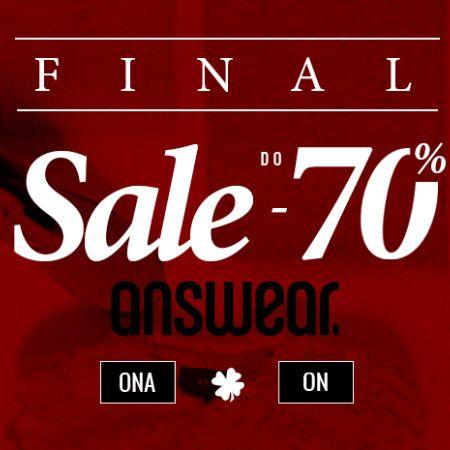 Przeceny do -70% w Answear! FINAL SALE!