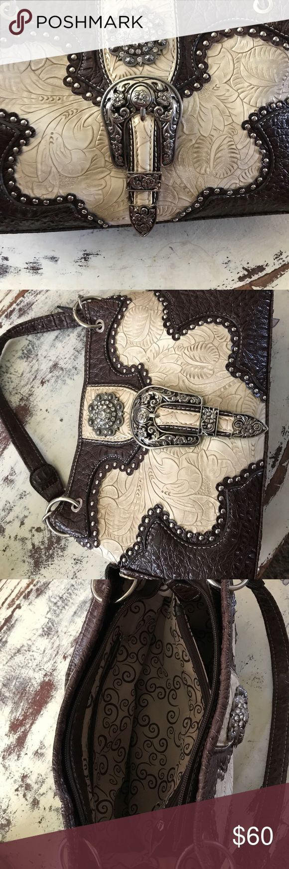Fabulous buckle bag Western large buckle purse Bags Totes