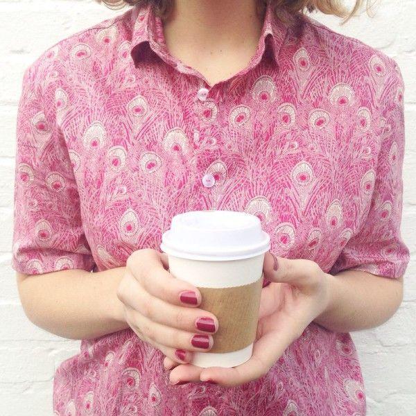 Pink Grainline Archer Shirt in Liberty Hera
