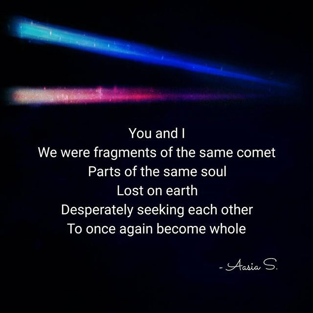 Wrote this after seeing Kimi no Na wa (Your Name), a beautiful Japanese anime movie! . . . #kiminonawa #君の名は #yourname #youandi #fragments #comet #parts #soul #lost #earth #desperate #seeking #soulmate #whole #animemovie #writing #poetsofinstagram #hopetimistwrites #creativity #words #poetry #spilledink