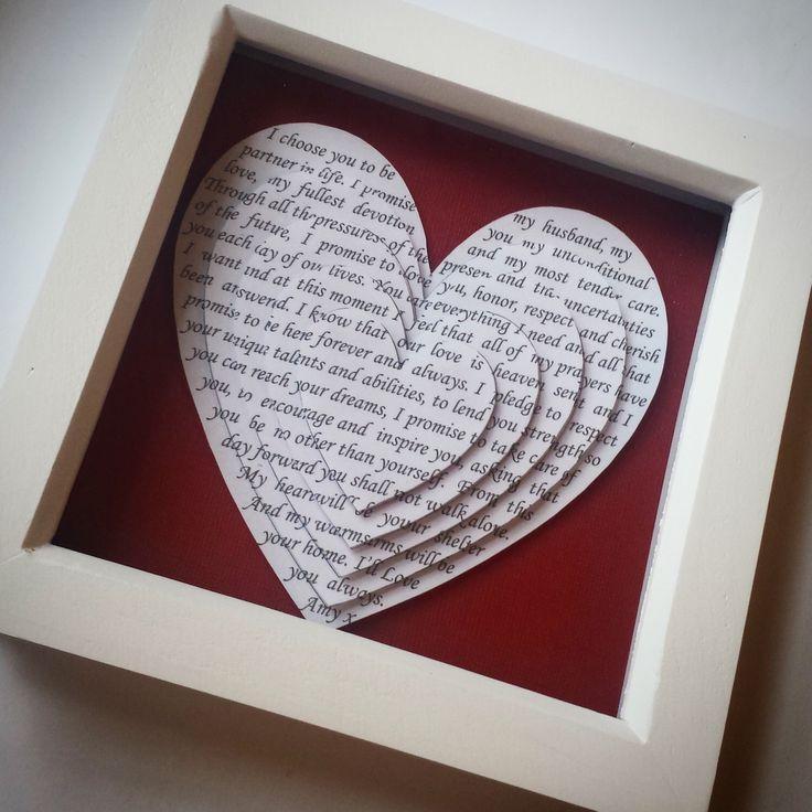 wedding anniversary gift framed vows first dance framed song lyrics poems