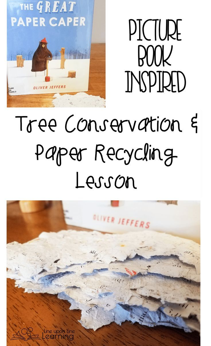 Reading The Great Paper Caper was a nice segue into recycling our own paper and learning about tree conservation.