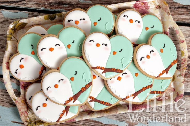 Southern Blue Celebrations: Valentine Cookie Ideas - love birds