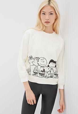 So cool!! Peanuts Raglan Sweatshirt | FOREVER21 - 2000135392